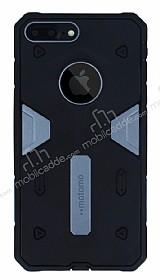 Motomo iPhone 7 Plus / 8 Plus Ultra Koruma Dark Silver Kılıf