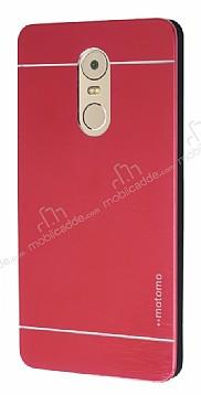 Motomo Lenovo K6 Note Metal Kırmızı Rubber Kılıf