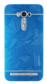 Motomo Prizma Asus ZenFone 2 Laser 5.5 inç Metal Mavi Rubber Kılıf