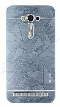 Motomo Prizma Asus ZenFone 2 Laser 5,5 inç Metal Silver Rubber Kılıf