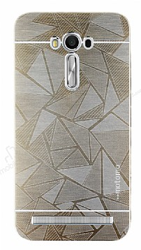 Motomo Prizma Asus ZenFone 2 Laser 5,5 inç Metal Gold Rubber Kılıf
