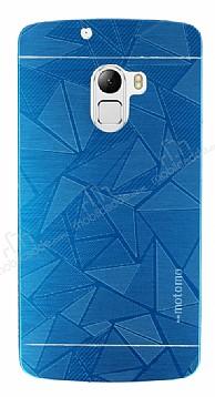 Motomo Prizma Lenovo A7010 Metal Mavi Rubber Kılıf