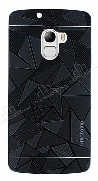 Motomo Prizma Lenovo A7010 Metal Siyah Rubber Kılıf