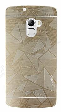 Motomo Prizma Lenovo A7010 Metal Gold Rubber Kılıf