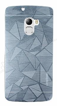 Motomo Prizma Lenovo A7010 Metal Silver Rubber Kılıf