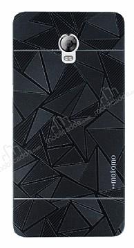 Motomo Prizma Lenovo Vibe P1 Metal Siyah Rubber Kılıf