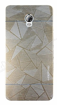 Motomo Prizma Lenovo Vibe P1 Metal Gold Rubber Kılıf