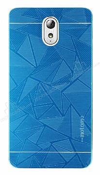 Motomo Prizma Lenovo Vibe P1m Metal Mavi Rubber Kılıf