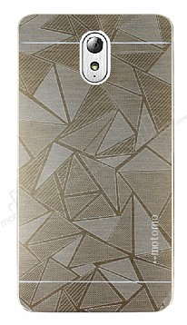 Motomo Prizma Lenovo Vibe P1m Metal Gold Rubber Kılıf