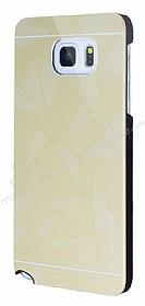 Motomo Prizma Samsung Galaxy Note 5 Metal Gold Rubber Kılıf