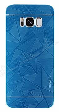 Motomo Prizma Samsung Galaxy S8 Metal Mavi Rubber Kılıf