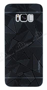 Motomo Prizma Samsung Galaxy S8 Metal Siyah Rubber Kılıf