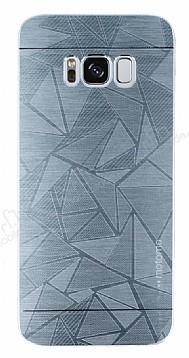Motomo Prizma Samsung Galaxy S8 Plus Metal Silver Rubber Kılıf
