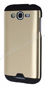 Motomo Round Samsung Galaxy Grand Metal Gold Rubber K�l�f