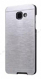 Motomo Samsung Galaxy A7 2017 Metal Silver Rubber Kılıf