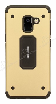 Motomo Samsung Galaxy A8 2018 Ultra Koruma Gold Kılıf