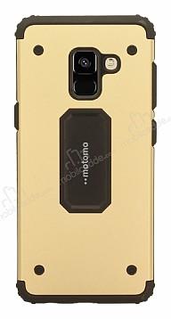 Motomo Samsung Galaxy A8 Plus 2018 Ultra Koruma Gold Kılıf