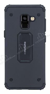 Motomo Samsung Galaxy A8 Plus 2018 Ultra Koruma Siyah Kılıf