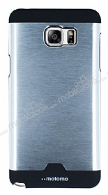 Motomo Round Samsung Galaxy Note 5 Metal Silver Rubber K�l�f