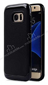 Motomo Samsung Galaxy S6 Edge Siyah Kenarlı Siyah Silikon Kılıf