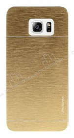 Motomo Samsung Galaxy S6 Edge Plus Metal Gold Rubber K�l�f