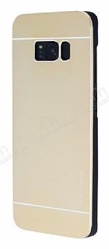 Motomo Samsung Galaxy S8 Metal Gold Rubber Kılıf