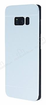 Motomo Samsung Galaxy S8 Metal Silver Rubber Kılıf