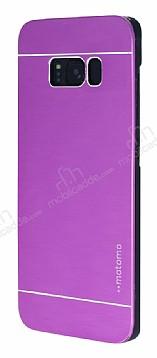 Motomo Samsung Galaxy S8 Metal Mor Rubber Kılıf