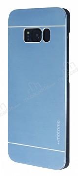 Motomo Samsung Galaxy S8 Plus Metal Lacivert Rubber Kılıf