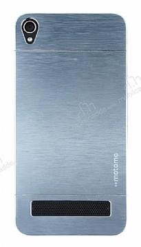 Motomo Vestel Venus V3 5020 Metal Silver Rubber Kılıf