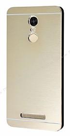 Motomo Xiaomi Redmi Note 3 Metal Gold Rubber Kılıf