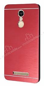 Motomo Xiaomi Redmi Note 3 Metal Kırmızı Rubber Kılıf