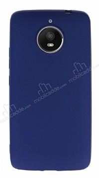 Motorola Moto E4 Plus Mat Dark Blue Silikon Kılıf
