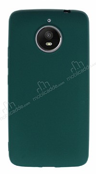 Motorola Moto E4 Plus Mat Koyu Yeşil Silikon Kılıf