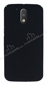 Motorola Moto G4 Plus Tam Kenar Koruma Siyah Rubber Kılıf
