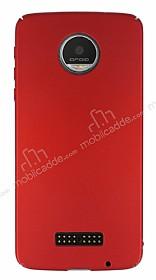 Motorola Moto Z Play Tam Kenar Koruma Kırmızı Rubber Kılıf