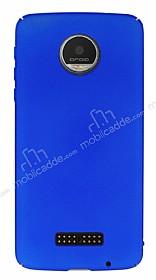 Motorola Moto Z Play Tam Kenar Koruma Lacivert Rubber Kılıf