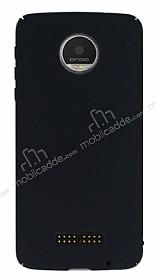 Motorola Moto Z Tam Kenar Koruma Siyah Rubber Kılıf