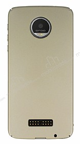 Motorola Moto Z Tam Kenar Koruma Gold Rubber Kılıf