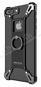 Nillkin iPhone 7 Plus / 8 Plus Selfie Yüzüklü Metal Bumper Siyah Kılıf