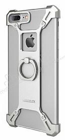 Nillkin iPhone 7 Plus / 8 Plus Selfie Yüzüklü Metal Silver Kılıf