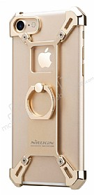 Nillkin iPhone 7 Selfie Yüzüklü Metal Bumper Gold Kılıf