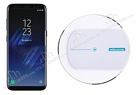 Nillkin Magic Disk II Samsung Galaxy S8 Plus Beyaz Kablosuz Şarj Cihazı
