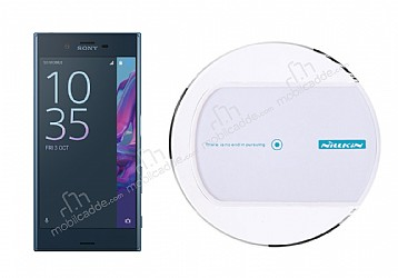 Nillkin Magic Disk II Sony Xperia XZ Beyaz Kablosuz Şarj Cihazı