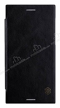 Nillkin Sony Xperia XZ Premium Cüzdanlı Yan Kapaklı Siyah Deri Kılıf
