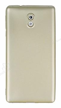 Nokia 3 Mat Gold Silikon Kılıf