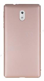 Nokia 3 Tam Kenar Koruma Rose Gold Rubber Kılıf