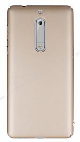 Nokia 5 Tam Kenar Koruma Gold Rubber Kılıf