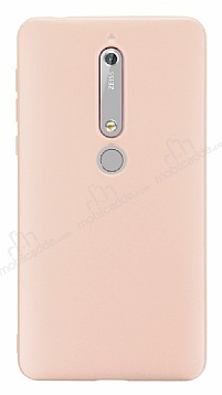 Nokia 6 2018 Mat Rose Gold Silikon Kılıf