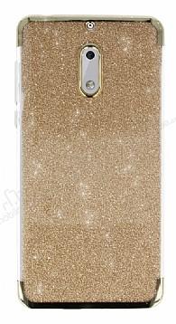 Nokia 6 Simli Gold Silikon Kılıf